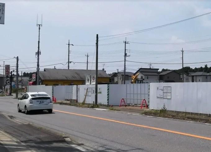 白井市根で建設中の飲食店舗01
