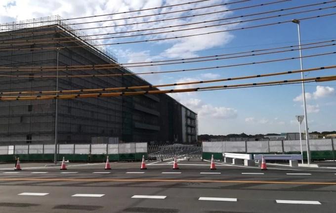 建設中のグッドマンビジネスパークステージ3。