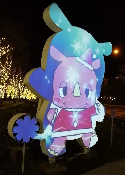 いんザイ君のプロジェクションマッピング、クリスマスVer.02