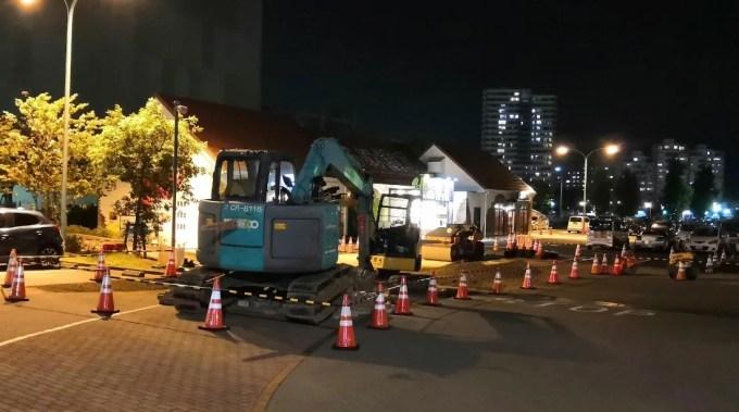 アルカサールの駐車場工事は間もなく終了、02。
