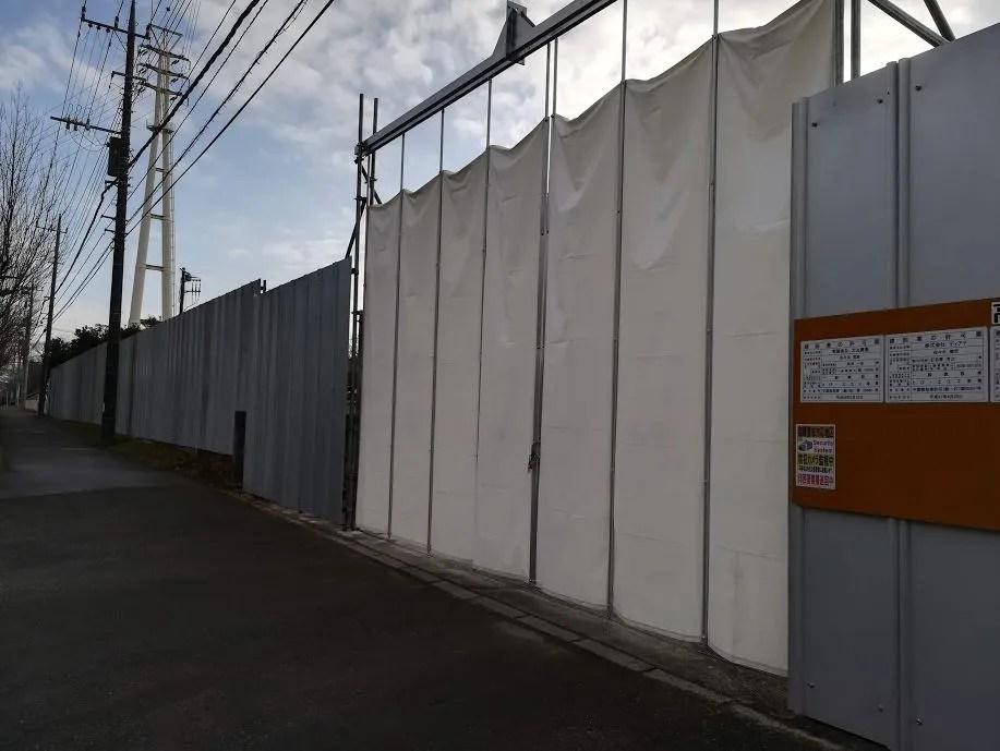 解体工事中の高花給食センター03。