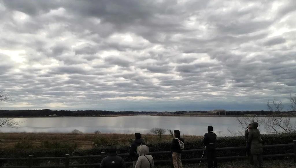 2020年の印旛沼公園の初日の出。01