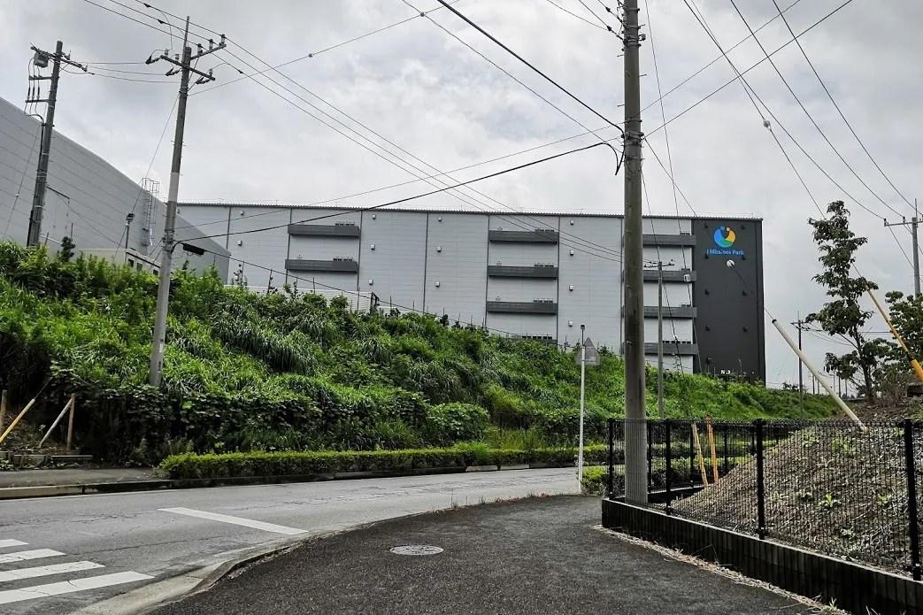 小田急さんの物流施設が建設中。01