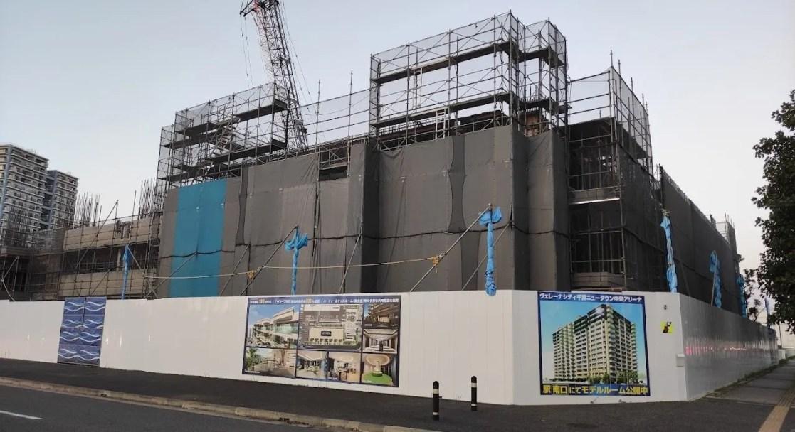 ヴェレーナシティ千葉ニュータウン中央アリーナの工事の様子。202110_02