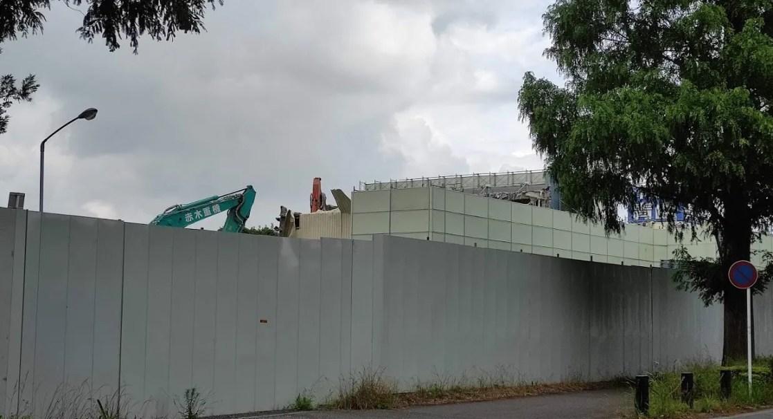 「トライアル」千葉ニュータウン店の解体が開始。06