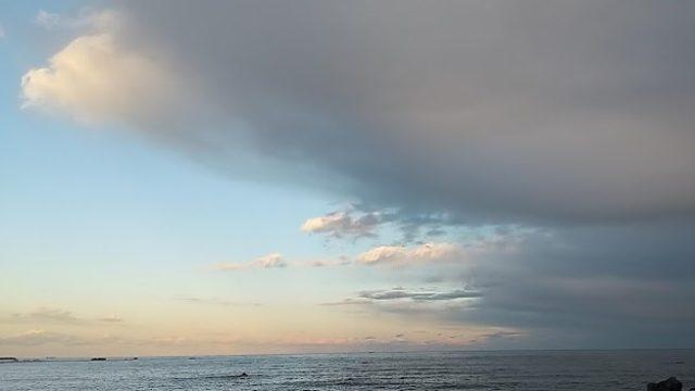 銚子君ヶ浜海岸から太平洋を望む