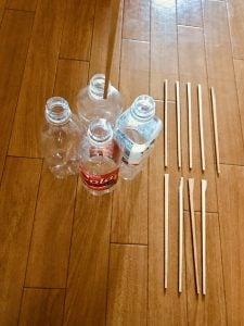 【高齢者(在宅介護)レクリエーション】割り箸を使って『4本ペットボトルダーツゲーム』