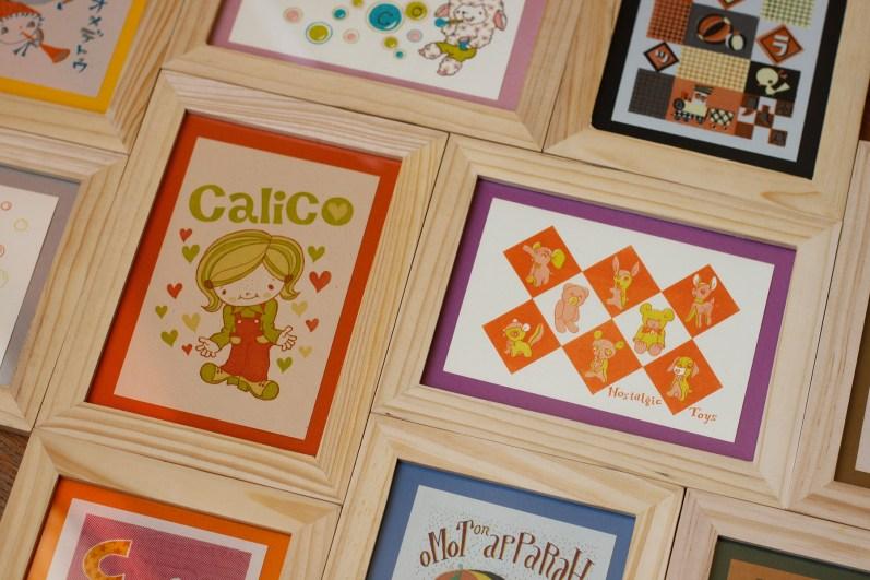Cartes postales imprimées main