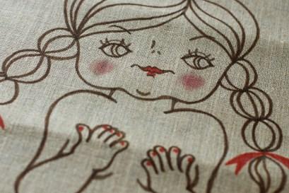 Sac illustré main - Mademoiselle