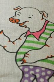 Sac illustré main - Monsieur le Cochon