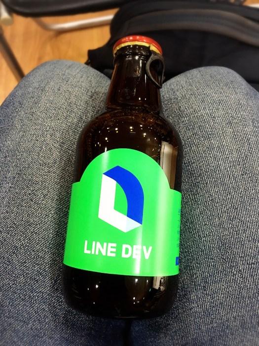 印有 LINE DEV 酒標的開發者專用啤酒,在這次的聚會中首度亮相,令人驚喜!