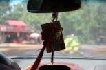 Exploring by car Banteay Srei temple