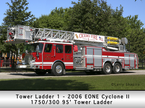 Cicero fire Department EONE E-ONE Cyclone II Tower Ladder