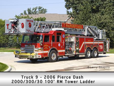 Naperville Fire Department Pierce Dash Tower Ladder Truck 9