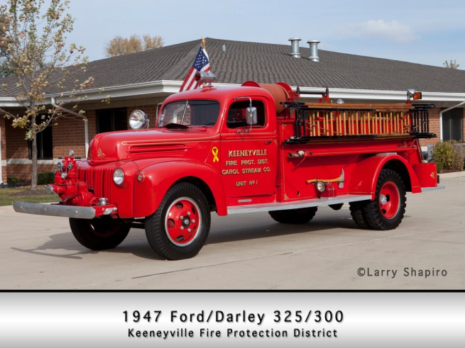Keeneyville Fire Protection District 1947 Ford Darley antique pumper