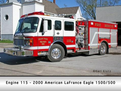 Grant Park Fire Department American LaFrance Eagle engine