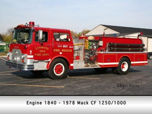 Lynwood FIre Department Mack CF pumper