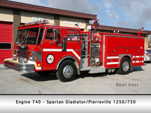 Thornton Fire Department Spartan Pierreville engine