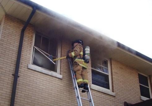 Oak Park Fire Department house fire Feb 16, 2011