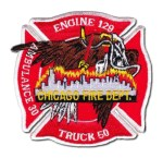 Chicago Fire Department patch Engine 129