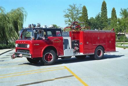 Flossmoor Fire Department 1973 Ford Darley engine