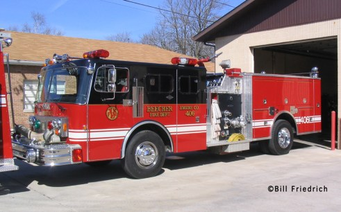 Beecher Fire Department engine