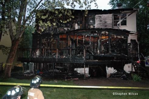 Glen Ellyn house fire on Dawes June 27, 2011