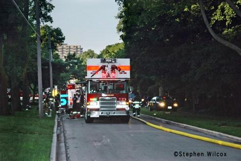 Wheaton house fire on Ellis 6/17/11