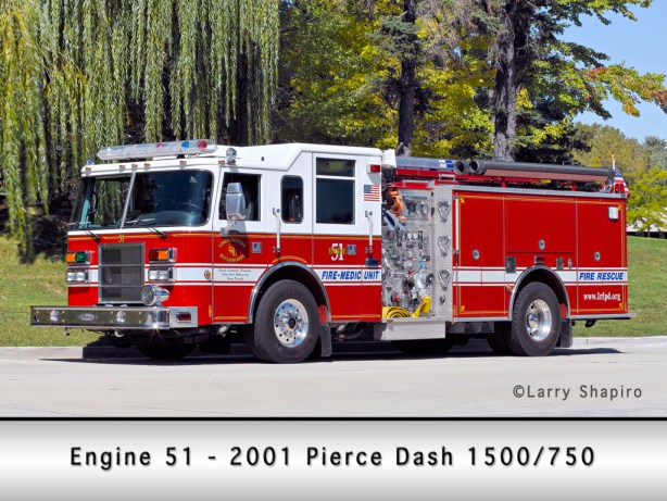 Linclonshire-Riverwoods Fire Protection District Engine 51