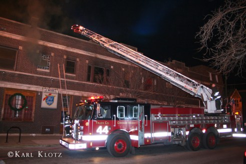 Chicago Fire Department working fire at  1802 N. Sheffield