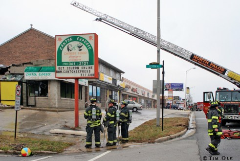 Chinese Restaurant destroyed by fire in Worth IL