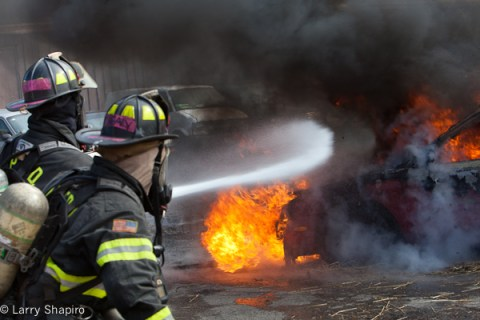 NIPSTA firefighter training auto fires