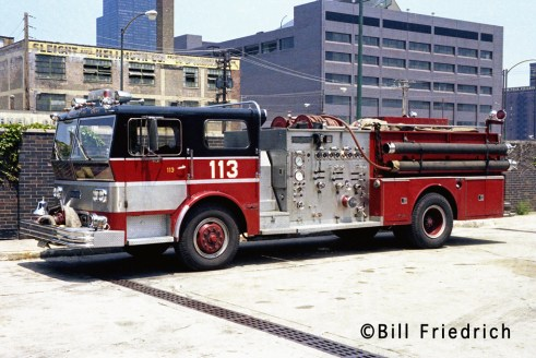 Chicago Fire Department Engine 113 1970 Ward LaFrance Ambassador
