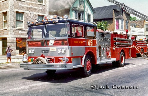 Chicago Fire Department 1970 Ward LaFrance P80 Ambassador engine 49