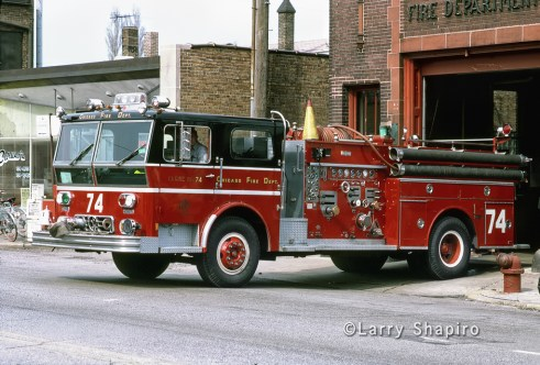 Chicago Fire Department Engine 74 Ward LaFrance