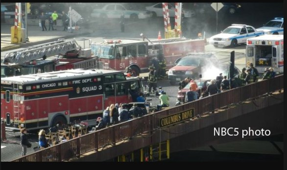 Chicago Fire TV show accident scene