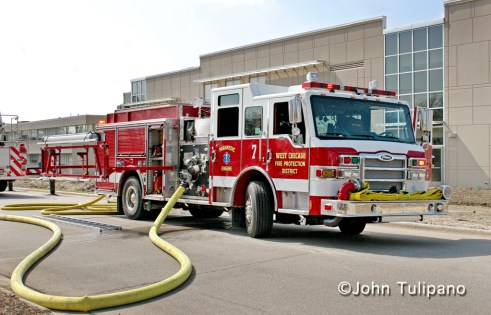 West Chicago Fire Protection District Engine 7 Pierce Velocity