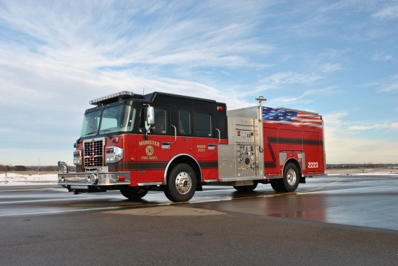 Munster Fire Department new engine from Custom Fire on a Spartan chassis