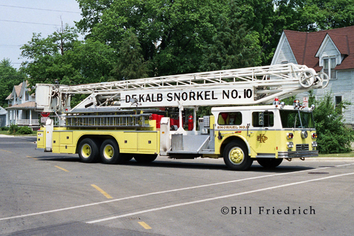 Dekalb Fire Department 1975 Ward LaFrance Hi-Ranger Snorkel