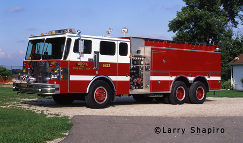 Homer Township FPD Engine 6823 Spartan Pierce pumper tanker