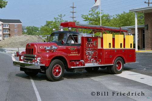 Clarendon Hills Fire Department red fire truck