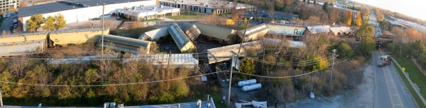 train derailment in Northbrook