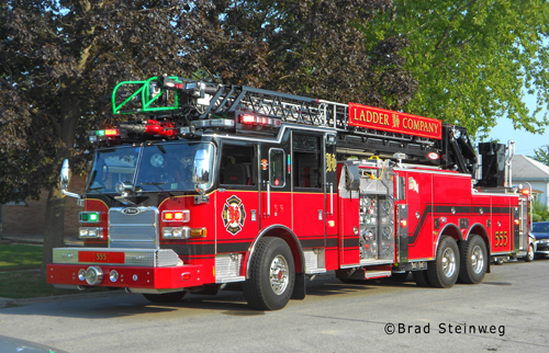 Homewood Fire Department aerial ladder truck