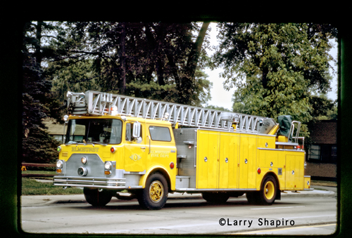 Elmhurst Fire Department mack Pirsch ladder truck