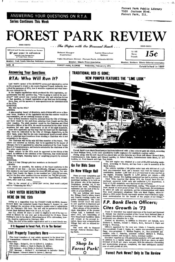 Forest Park Review February 6, 1974