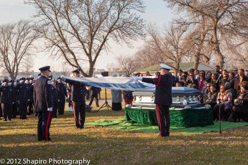 Funeral for Chicago Fire LODD Firefighter Walter Patmon Jr 11-22-12