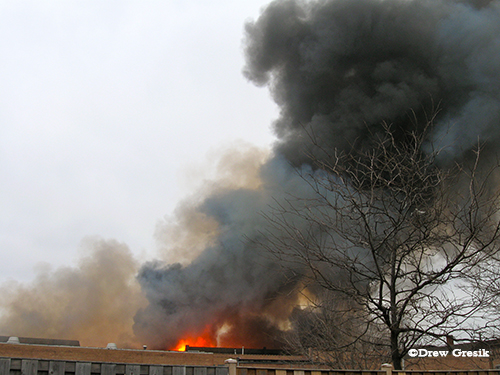 Chicago 4-11 Alarm fire at 2444 W. 21st Street 12-29-12