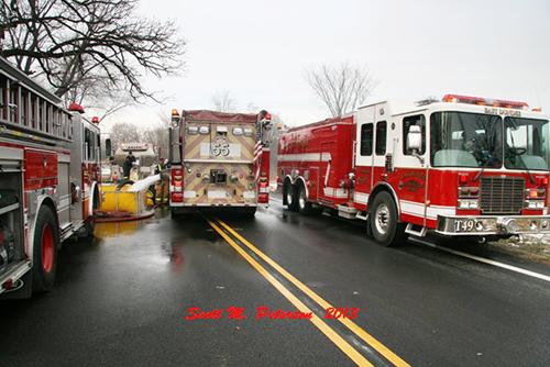 water tanker shuttle at fire scene