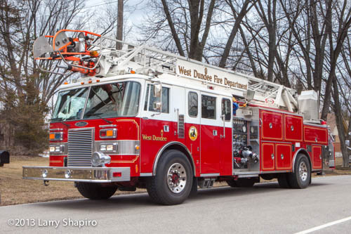 West Dundee FPD aerial ladder truck