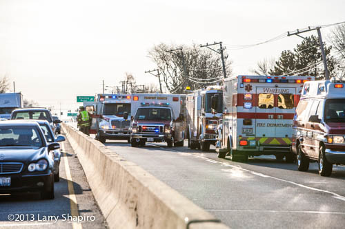 multi-vehicle accident on Palatine Road in Wheeling 3-28-13